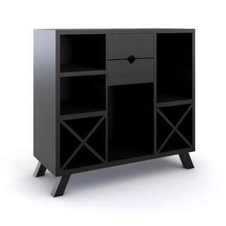 Furniture of America Deons Modern Cappuccino Wine Bar Dining Server