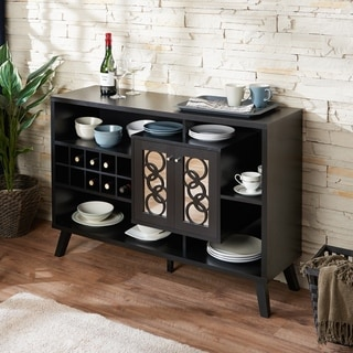 Attractive Furniture Of America Landers Modern Cappuccino Buffet Server