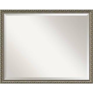 Wall Mirror Large, Parisian Silver 31 x 25-inch
