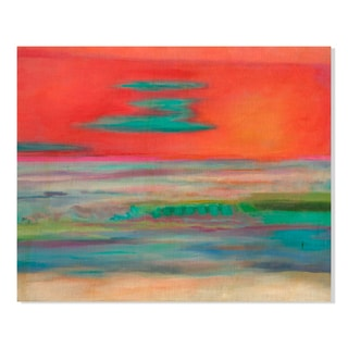 Gallery Direct Pink Horizon Print by Lynn Taylor on Birchwood Wall Art