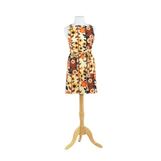 Brown Trellis Retro Print Cotton Butcher's Apron