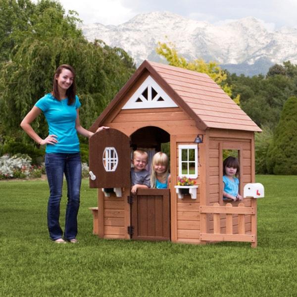 backyard discovery aspen cedar playhouse free shipping