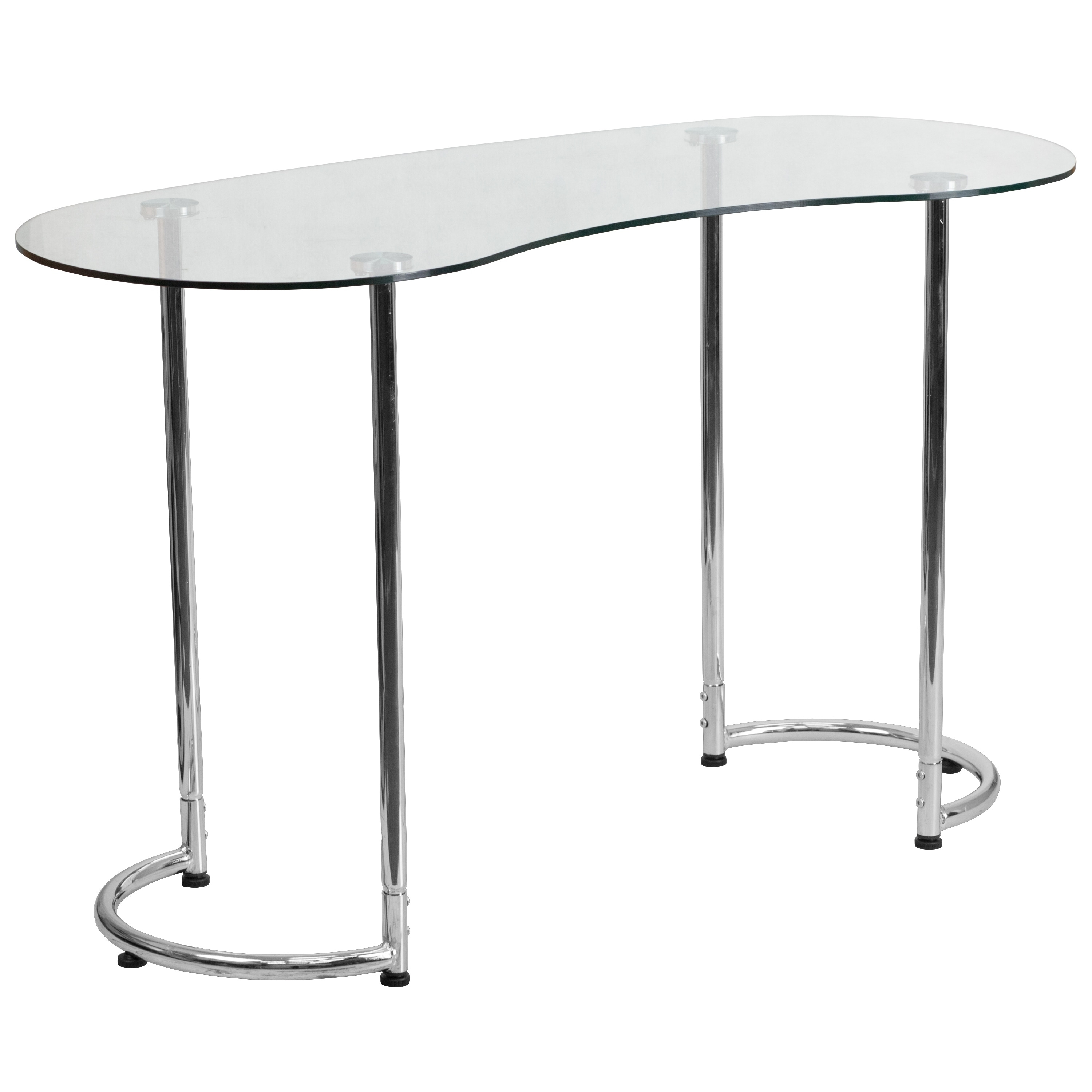 Flash Furniture Desk With Clear Tempered Glass (Clear)