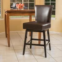 Tracy 28-inch Bonded Leather Swivel Counter Stool by Christopher Knight Home