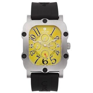 Croton Men's CN307529BSYL Stainless Steel Silvertone Silicon Strap Watch