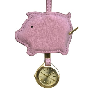 Dakota Moxie Pig Shape Hanging Purse Charm Clock