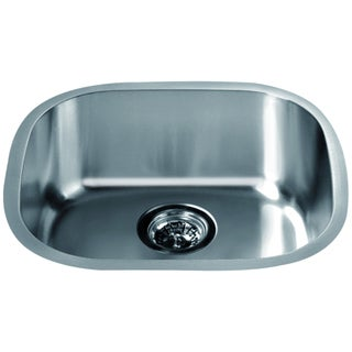 Dawn Undermount Polished Stainless Steel Single Bowl Bar Sink
