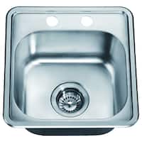 Dawn Top Mount Single Bowl Bar Sink with 2 Holes