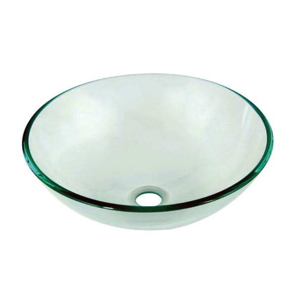 Shop Dawn Tempered Glass Vessel Sink Round Shape Clear Glass Free