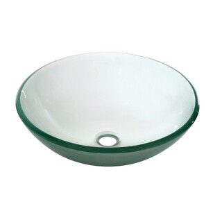 Dawn Tempered Glass Vessel Sink Round Shape Frosted Glass