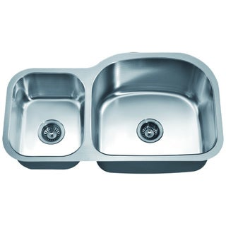Dawn Double Bowl Undermount Sink (Small Bowl On Left)