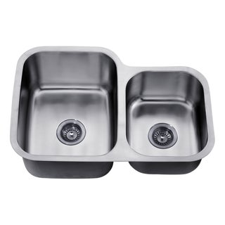 Dawn Undermount Double Bowl Stainless Steel Sink (Small Bowl On Right)