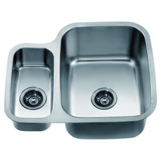 Dawn Undermount Stainless Steel Double Bowl Sink (Small Bowl on Left)|https://ak1.ostkcdn.com/images/products/10704598/P17764642.jpg?impolicy=medium