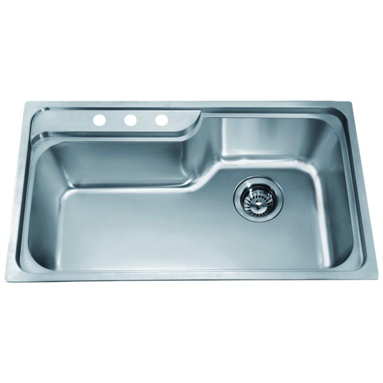 Dawn Top Mount Single Bowl Sink with 3 Holes (Minimum Cab...