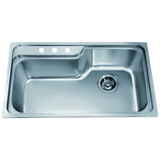 Dawn Top Mount Single Bowl Sink with 3 Holes