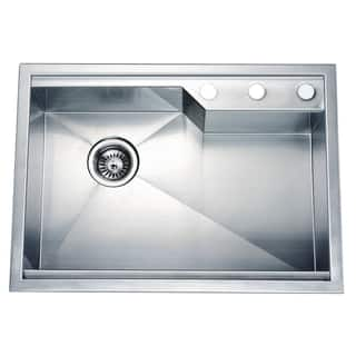 Dawn Dual Mount Square Single Bowl Sink with Rear Corner Drain and 3 Holes|https://ak1.ostkcdn.com/images/products/10704627/P17764699.jpg?impolicy=medium