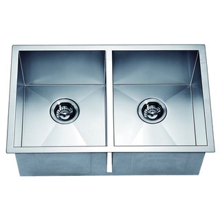 Dawn Undermount Equal Double Square Sink