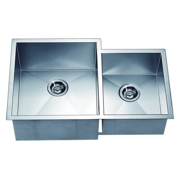 Shop Dawn Undermount Double Bowl Square Sink Small Bowl