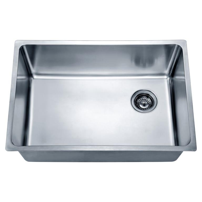 Dawn Undermount Single Bowl Sink with Rear Corner Drain (...