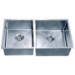 Dawn Undermount Small Corner Radius Double Bowl Sink (Small Bowl On Left)