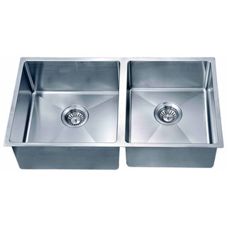 Dawn Undermount Small Corner Radius Double Bowl Sink (Small Bowl On Right)