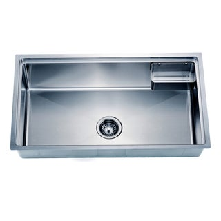 Dawn Undermount Small Corner Radius Single Bowl Sink with Basket (bk710)