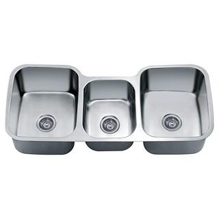 Dawn Undermount Triple Bowl Sink (46-inch x 21-inch x 9.5-inch)