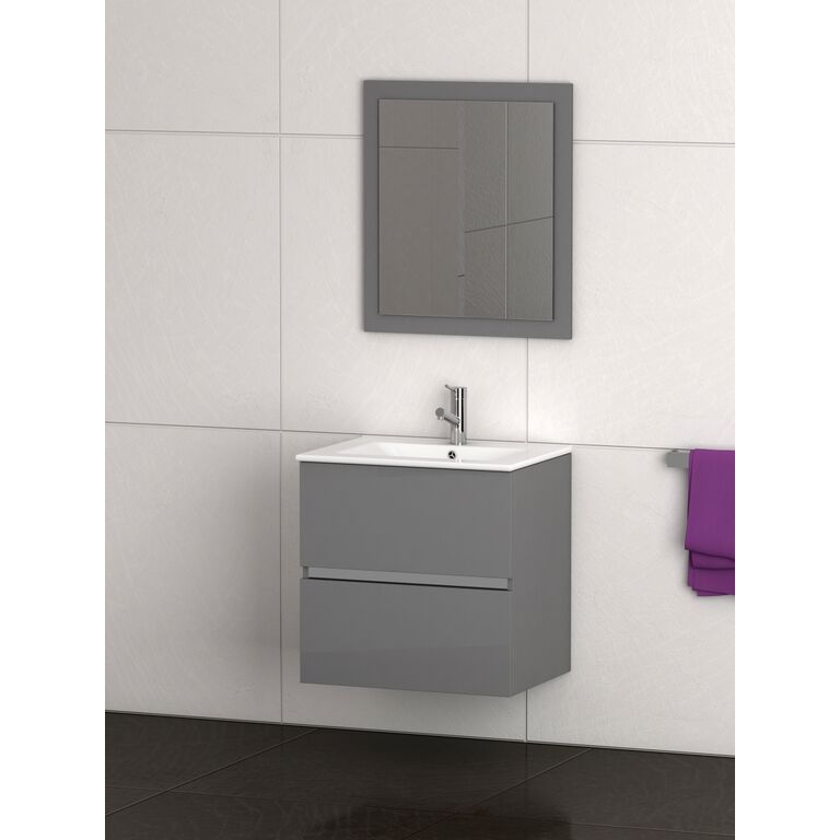 Grey Modern Bathroom Vanity Wall Mount
