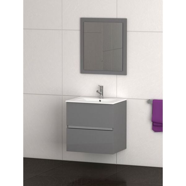Shop Eviva Ikaro 24 Inch Grey Modern Bathroom Vanity Wall Mount