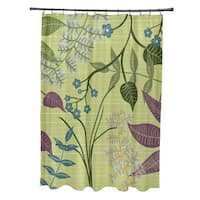 71 x 74 Botanical Floral Print Shower Curtain