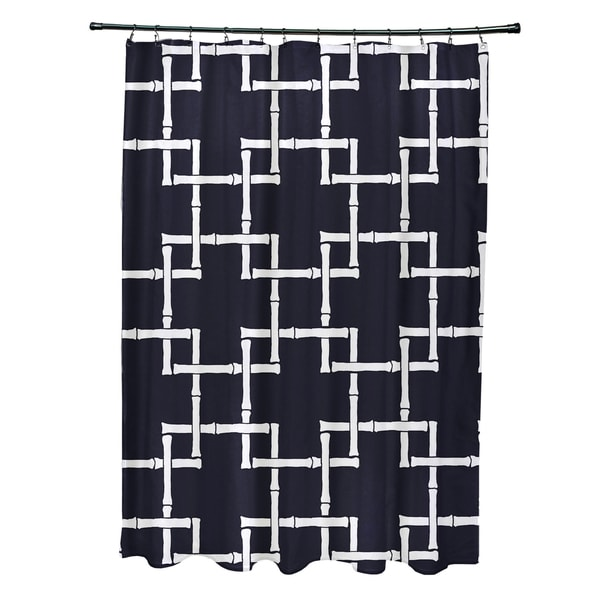 71 x 74 Bambies 1 Geometric Print Shower Curtain