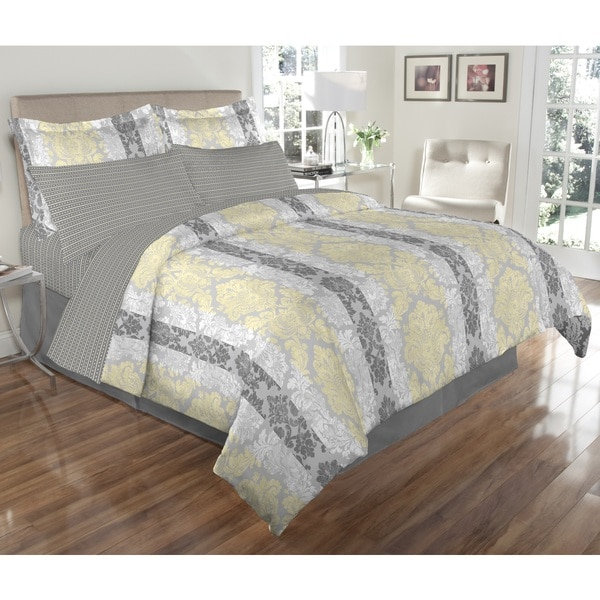 Estelle 8-piece Bed In A Bag with Sheet Set