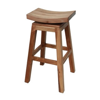 Sterling Industries Wood Swivel Barstool