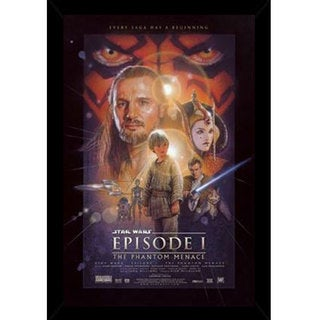 Star Wars Episode 1 Print (22-inch x 34-inch) with Contemporary Poster Frame