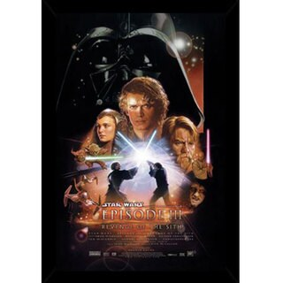 Star Wars Episode 3 Print (22-inch x 34-inch) with Contemporary Poster Frame
