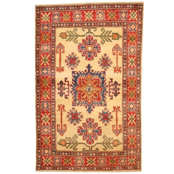 Herat Oriental Afghan Hand-knotted Tribal Kazak Wool Rug (3'2 x 5'1) - 3'2 x 5'1