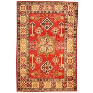 Herat Oriental Afghan Hand-knotted Tribal Kazak Wool Rug (3'3 x 4'10)