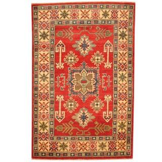 Herat Oriental Afghan Hand-knotted Tribal Kazak Wool Rug (2'2 x 4'10)