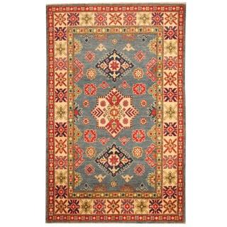 Herat Oriental Afghan Hand-knotted Tribal Kazak Wool Rug (3'3 x 5'1)