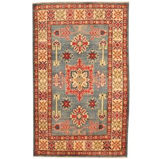 Herat Oriental Afghan Hand-knotted Tribal Kazak Wool Rug (3'3 x 5'3)