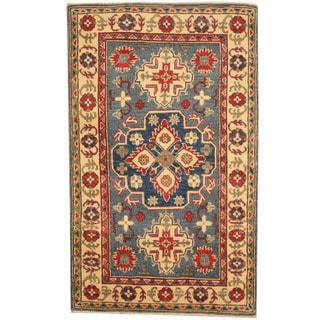 Herat Oriental Afghan Hand-knotted Tribal Kazak Wool Rug (3'1 x 5')