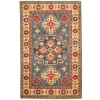 Herat Oriental Afghan Hand-knotted Tribal Kazak Wool Rug (3'1 x 4'10) - 3'1 x 4'10