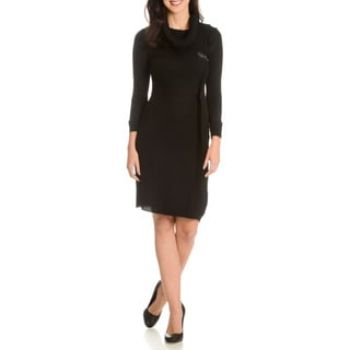 Nina Leonard Women's Cowl Sweater Dress