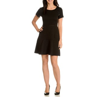 Nina Leonard Women's Quilted A-Line Dress