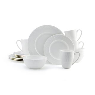 Mikasa Ortley 16-piece Dinnerware Set Bone China Round White