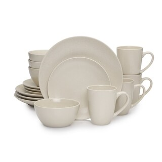 Mikasa Nolan 16-piece Dinnerware Set Stoneware Coupe Tan