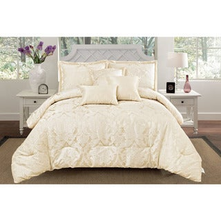 Jacquard Oxford 6-piece Comforter Set
