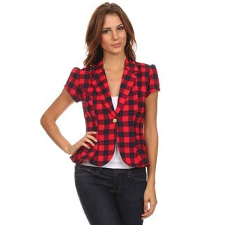 MOA Collection Women's Plaid Regular and Plus Size Blazer|https://ak1.ostkcdn.com/images/products/10704792/P17764847.jpg?impolicy=medium