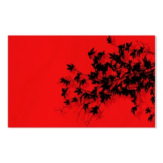Gallery Direct Tree Branches over Red Print on Birchwood Wall Art