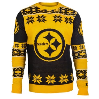 Forever Collectibles NFL Pittsburgh Steelers Big Logo Crew Neck Ugly Sweater